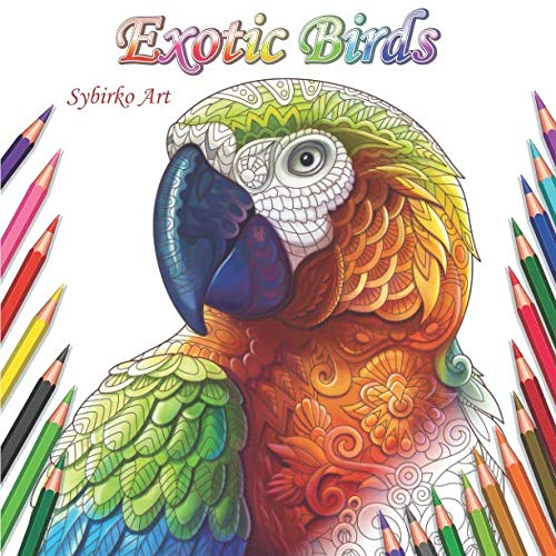 Buy exotic animals coloring book