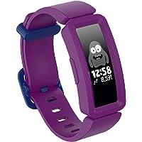 Xpzz Compatibel voor Fitbit Ace 2 Strap, Ace 2 Klassieke Bands Verstelbare Vervanging Accessoires Zachte Siliconen Sport…