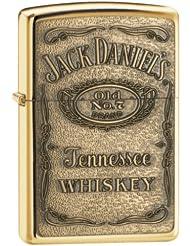 美国芝宝Zippo Jack Daniel's Label 杰克丹尼金色凹凸版打火机 $20.43