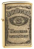 Zippo Jack Daniel's Tennessee Whiskey Emblem Pocket Lighter, High Polish Brass