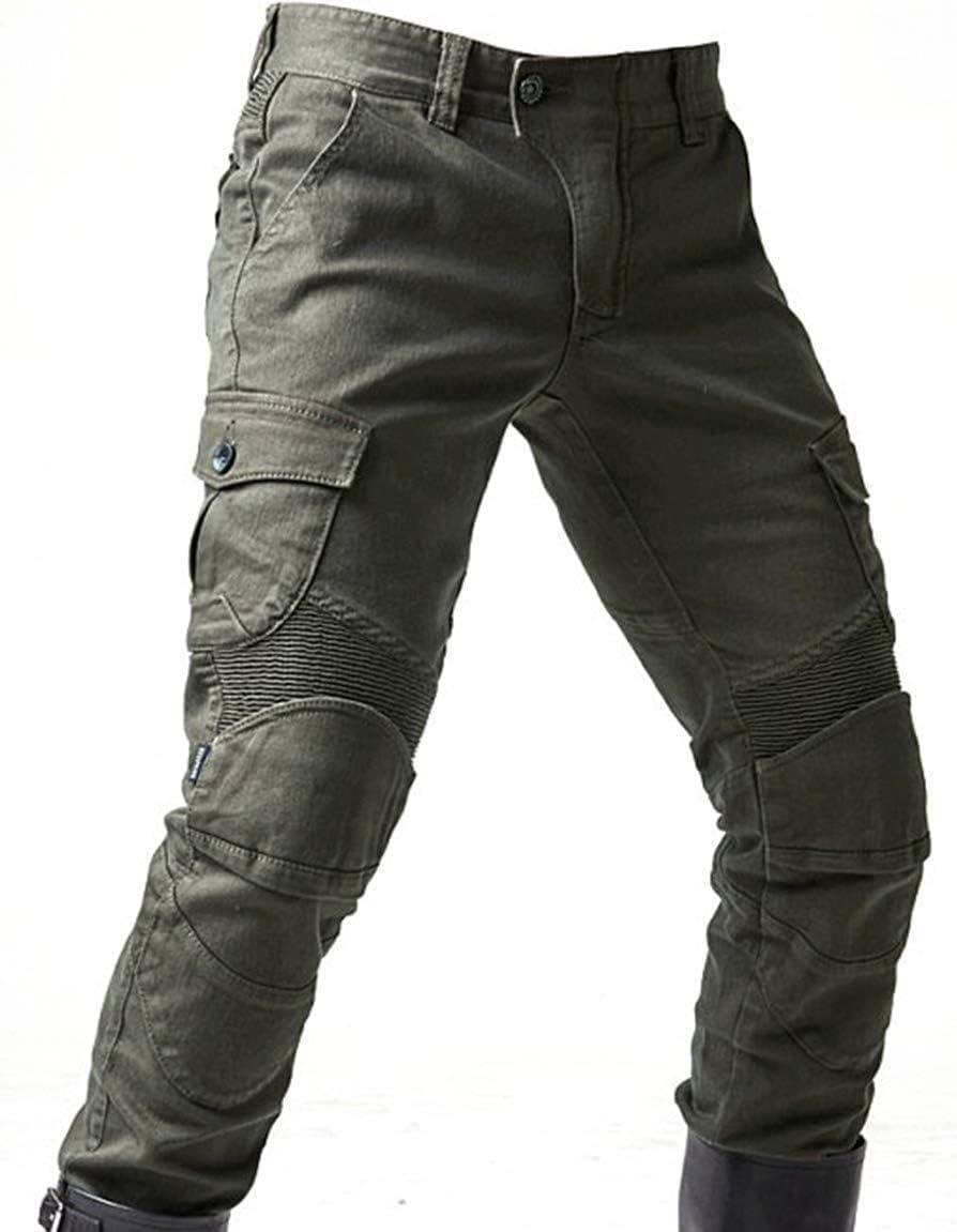 Alpha Rider M/änner Motorrad Reithose Denim Jeans Hosen Motorrad Hose mit Sch/ützen Pads Ausr/üstung Armee Gr/ün XXXL