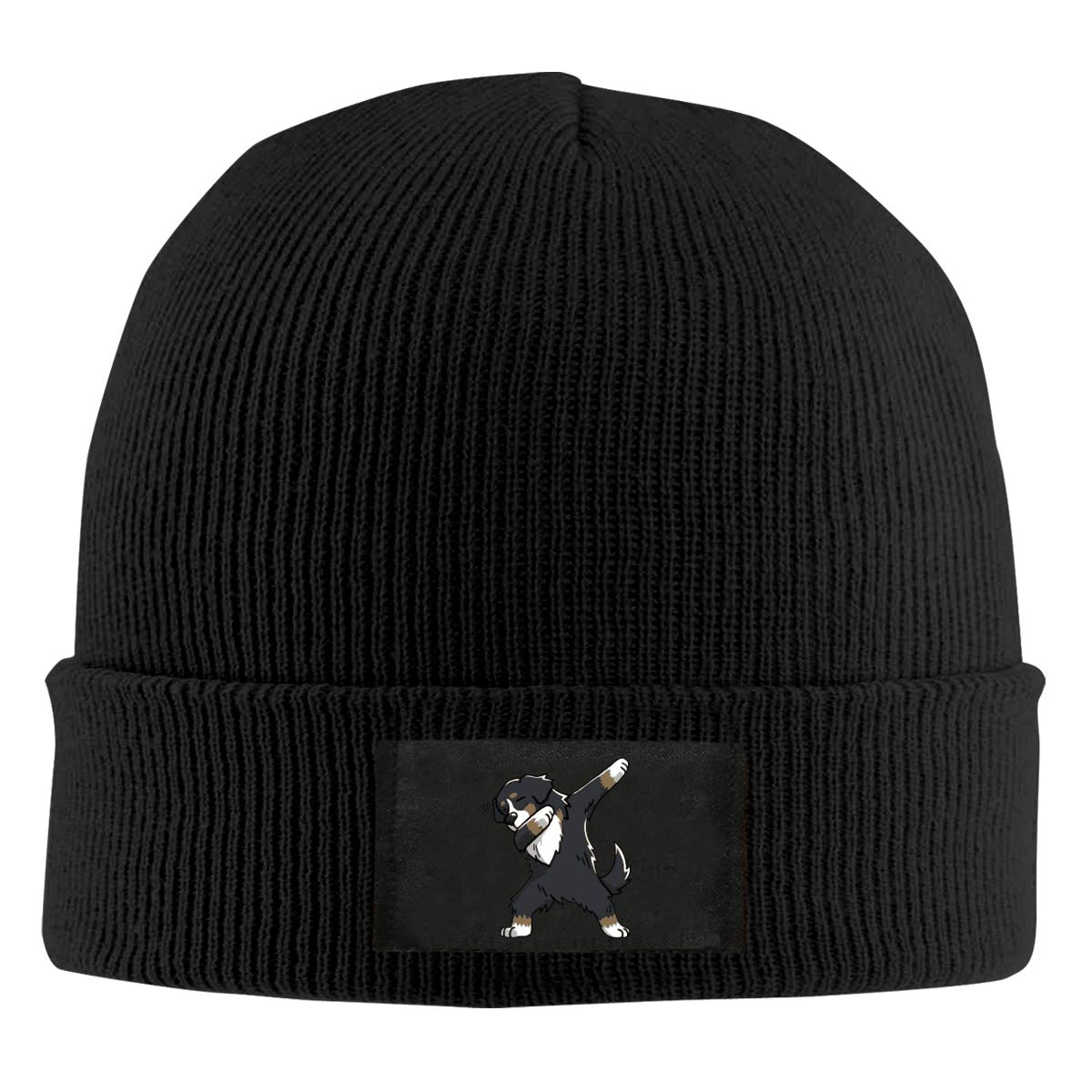 Dabbing Bernese Mountain Dog Men /& Womens Knitted Hat Comfortable Snowboarding Hat