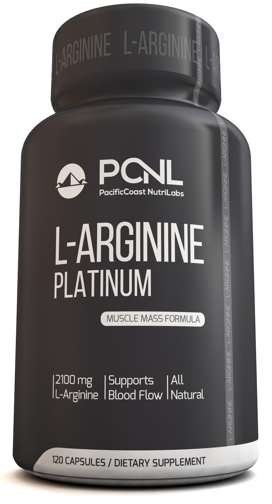 PacificCoast NutriLabs 2100mg L Arginine, All-Natural Muscle Mass Formula, Free Ebook, 120 Capsules by PacificCoast NutriLabs