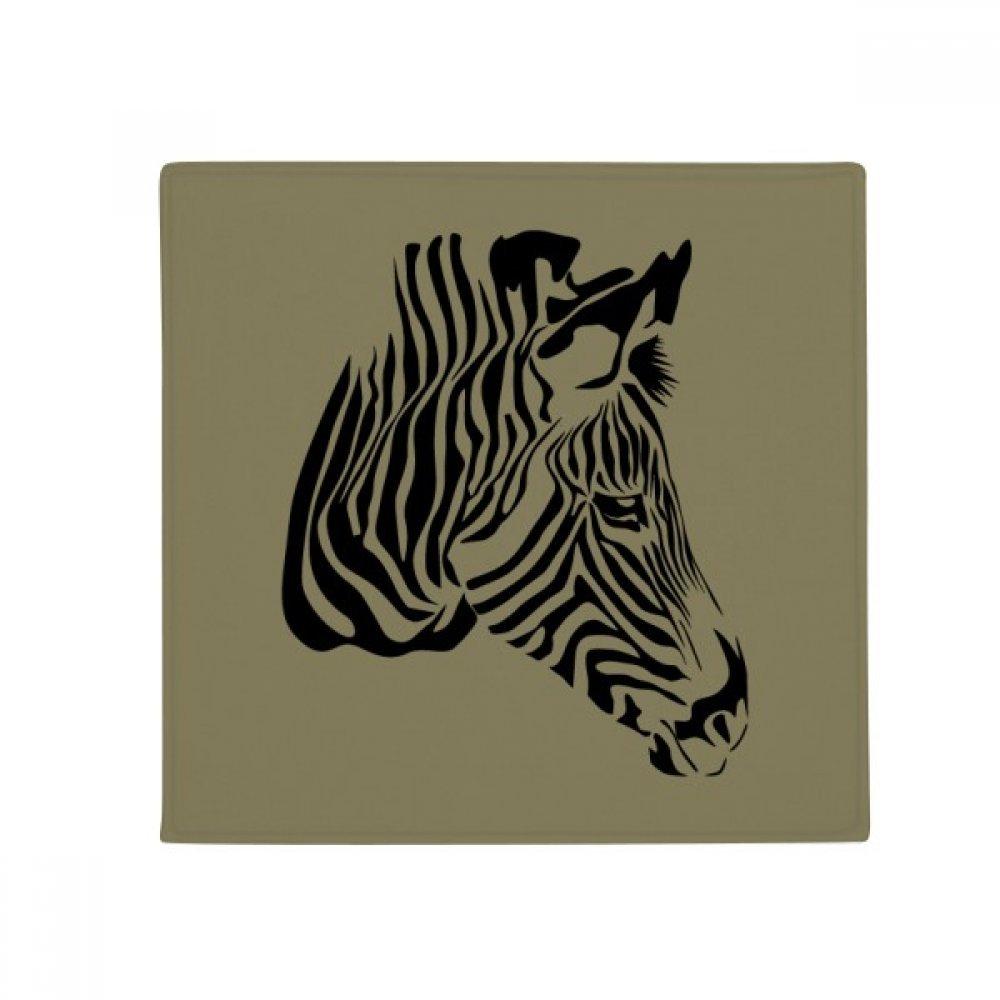 DIYthinker Feature Zebra Head Brown Animal Anti-Slip Floor Pet Mat Square Home Kitchen Door 80Cm Gift