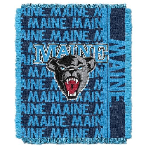 The Northwest Company Officially Licensed NCAA Maine Black Bears Double Play Triple Woven Jacquard Throw Blanket, 48