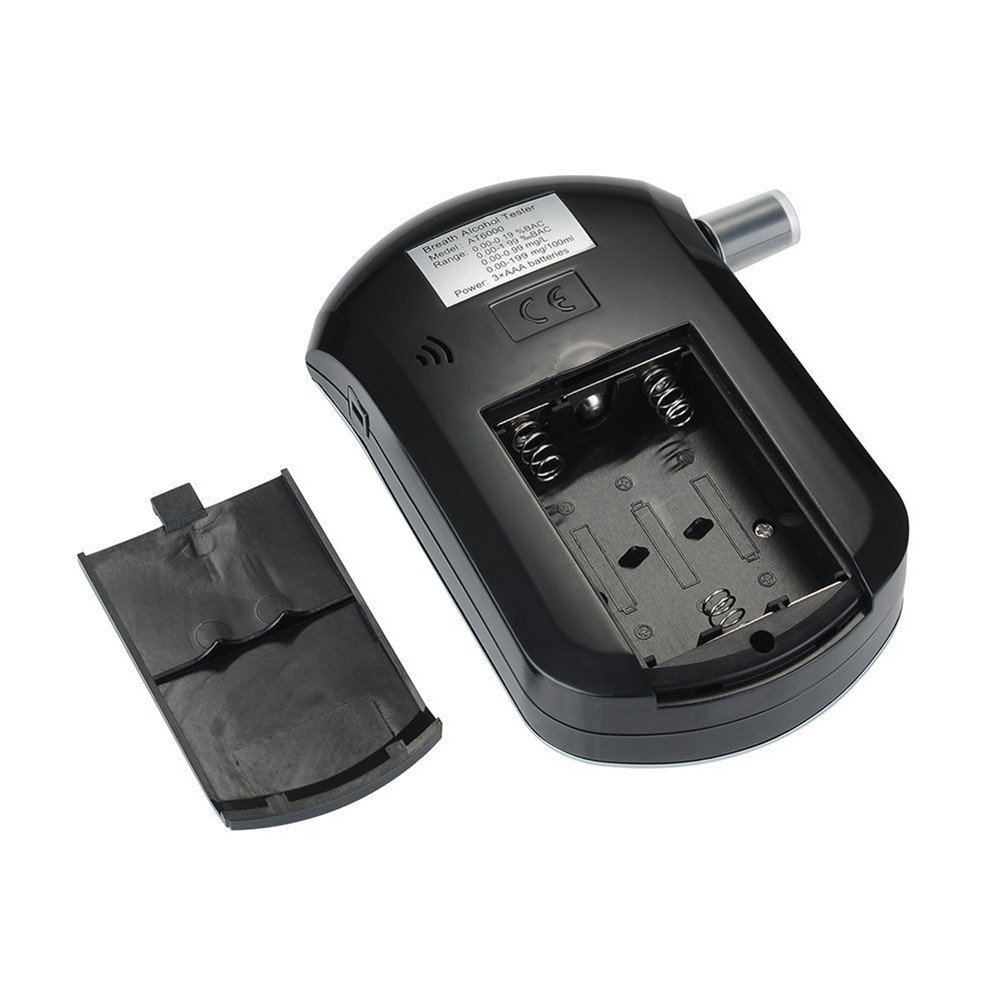 Alcohol Tester XGZ LCD Digital Police Breath Breathalyzer Test Alcohol Tester Portable Smart Breath Alcohol Tester Analyzer Detector At-6000