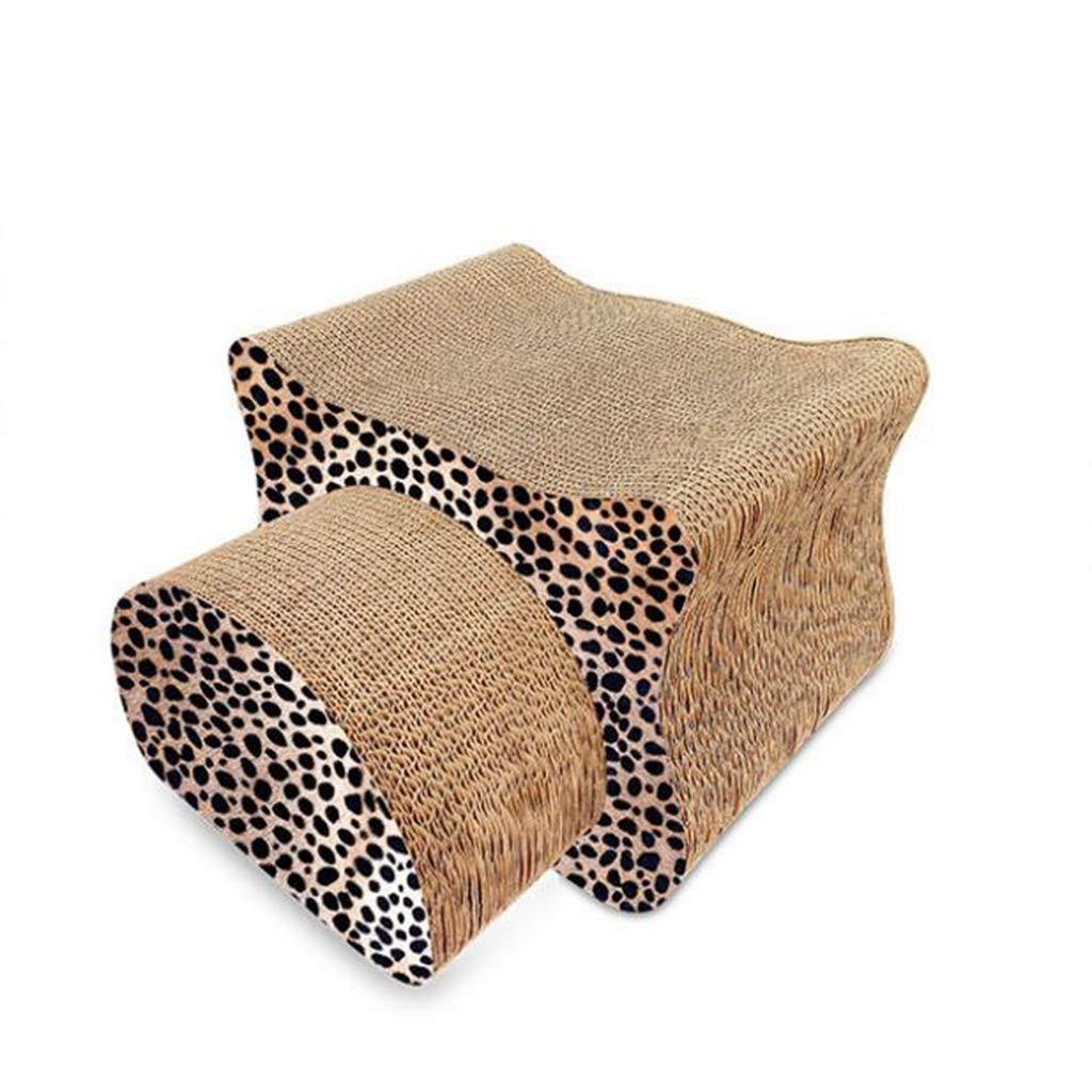 Leopard Corrugated Cat Toy Cat Head Shape Cat Scratch Board Claw Claw Pet Supplies Multi-Piece Combination