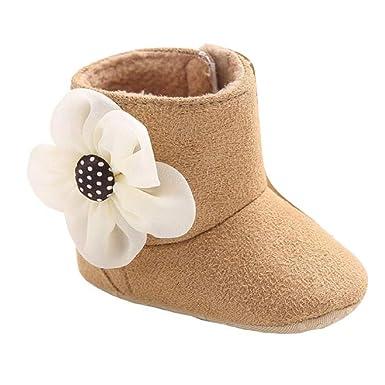 Bottes de Neige Chaude Infantile en forme de la Fleur kaki 13 cm 4CqVd0Z53