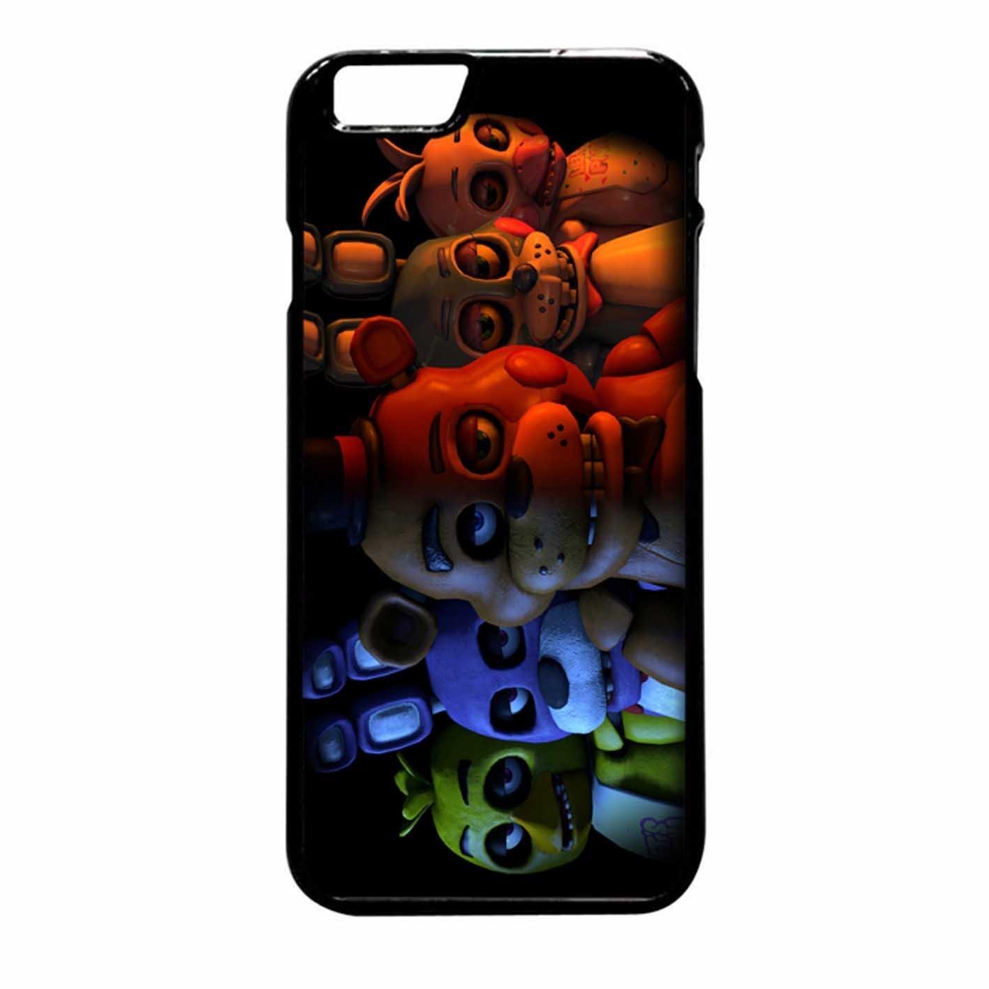 Amazon.com  Five Nights At Freddy Case   Color Black Rubber   Device iPhone  6 Plus 6s Plus  Cell Phones   Accessories 43d3e6cb6f0