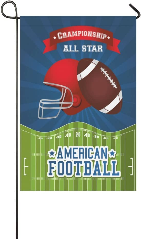 Amazon Com Interestprint American Football Helmet Polyester Garden Flag House Banner 12 X 18 Inch Champion All Star Decorative Flag For Party Yard Home Outdoor Decor Garden Outdoor