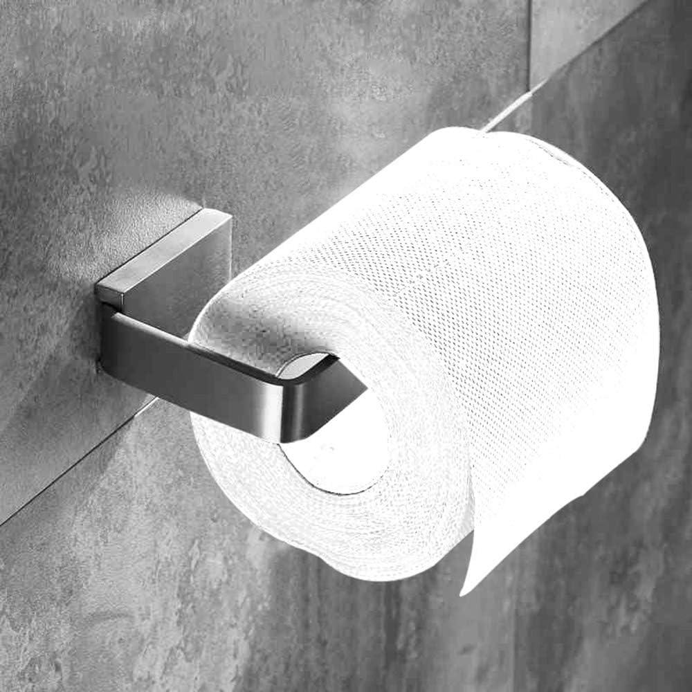 Leyden SUS304 Stainless Steel Toilet Paper Holder Brushed Nickel Roll Paper Holder Storage Wall Mounted Rustproof Easy Install