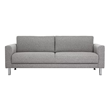 furniture to go cleveland 3 seater sofa fabric nova light grey rh amazon co uk Grey Living Room Furniture Grey Leather Furniture