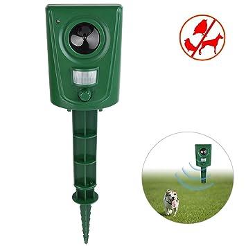 Petacc Repelente de plagas Repelentes de insectos ultrasónicos Repelente de plagas al aire libre Control de animales con sensor infrarrojo, Verde hierba: ...