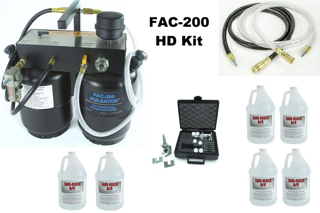 HECAT FAC-200HD PULSATOR (118507BHD) - Portable A/C System Component Flusher, Heavy Duty Kit