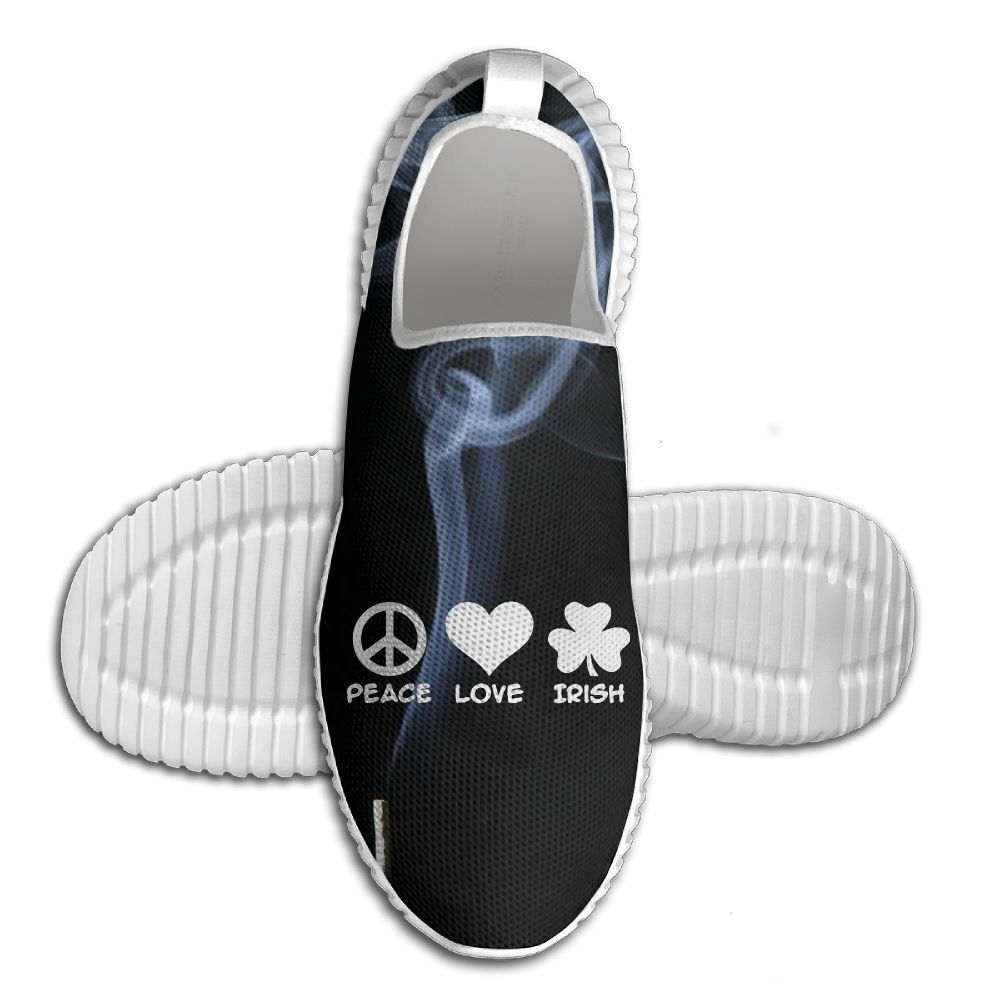 PEACE LOVE IRISH Lightweight Breathable Casual Running Shoes Fashion Sneakers Shoes