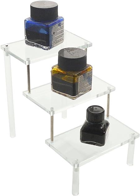 Expositor de vitrina – Escalera 3 Peldaños, transparente, 10 cm x 6 cm: Amazon.es: Hogar