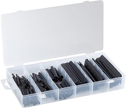 127 tlg Set Schrumpfschläuche schwarz Isolierung  2-13mm  Kabel Schrumpfschlauch
