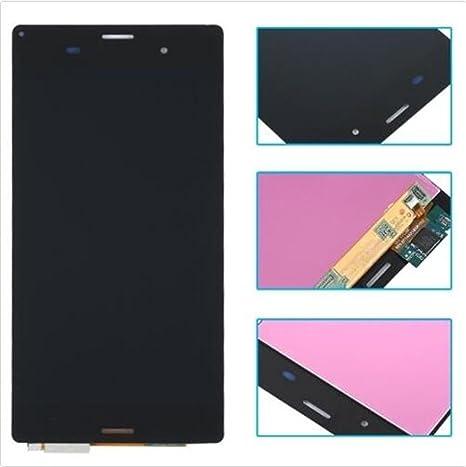 Sony Xperia Z3 Display im Komplettset LCD Ersatz Für Touchscreen Glas Reparatur (Sony Xperia Z3 D6603 D6643 D6653, Schwarz)