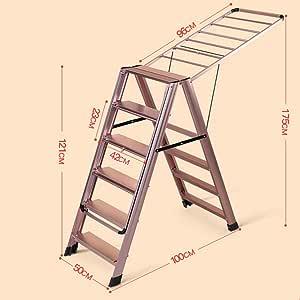 LwDrying rack Soporte de Secado Aleación de Aluminio Escalera multifunción/Soporte de Secado Aterrizaje Perfil aerodinámico Plegable Soporte de Secado Interior y Exterior (Color : G): Amazon.es: Hogar
