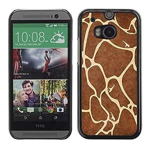 Paccase / SLIM PC / Aliminium Casa Carcasa Funda Case Cover para - Giraffe Pattern - HTC One M8