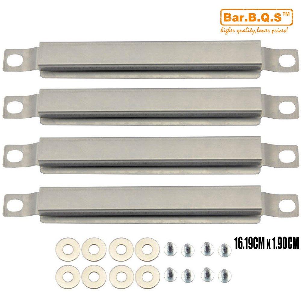 Bar.b.q.s Remplacement 05592 (4-pack 162mm) Brûleur croisé en acier inoxydable pour gril à gaz Select Charbroil, Kenmore et autres