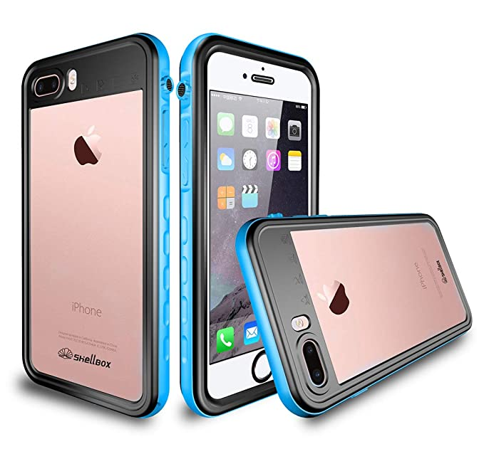 best service 55702 b52f0 Heavy Duty Waterproof Case, ShellBOX Drop Resistant Underwater Hybrid  Plastic Skin for Apple iPhone 8 (4.7 inch) with Built-in Screen Protector  Light ...