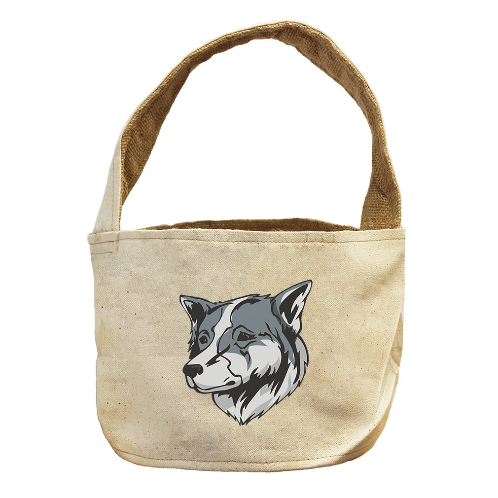 Style in Print Canvas And Burlap Storage Basket Thai Bangkaew Dog Head By by Style in Print