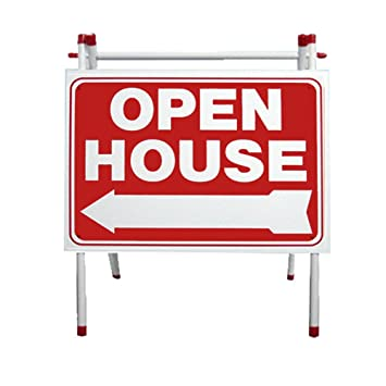 Amazon.com : PVC SIDEWALK A-FRAME W/ REVERSE RED OPEN HOUSE SIGN ...
