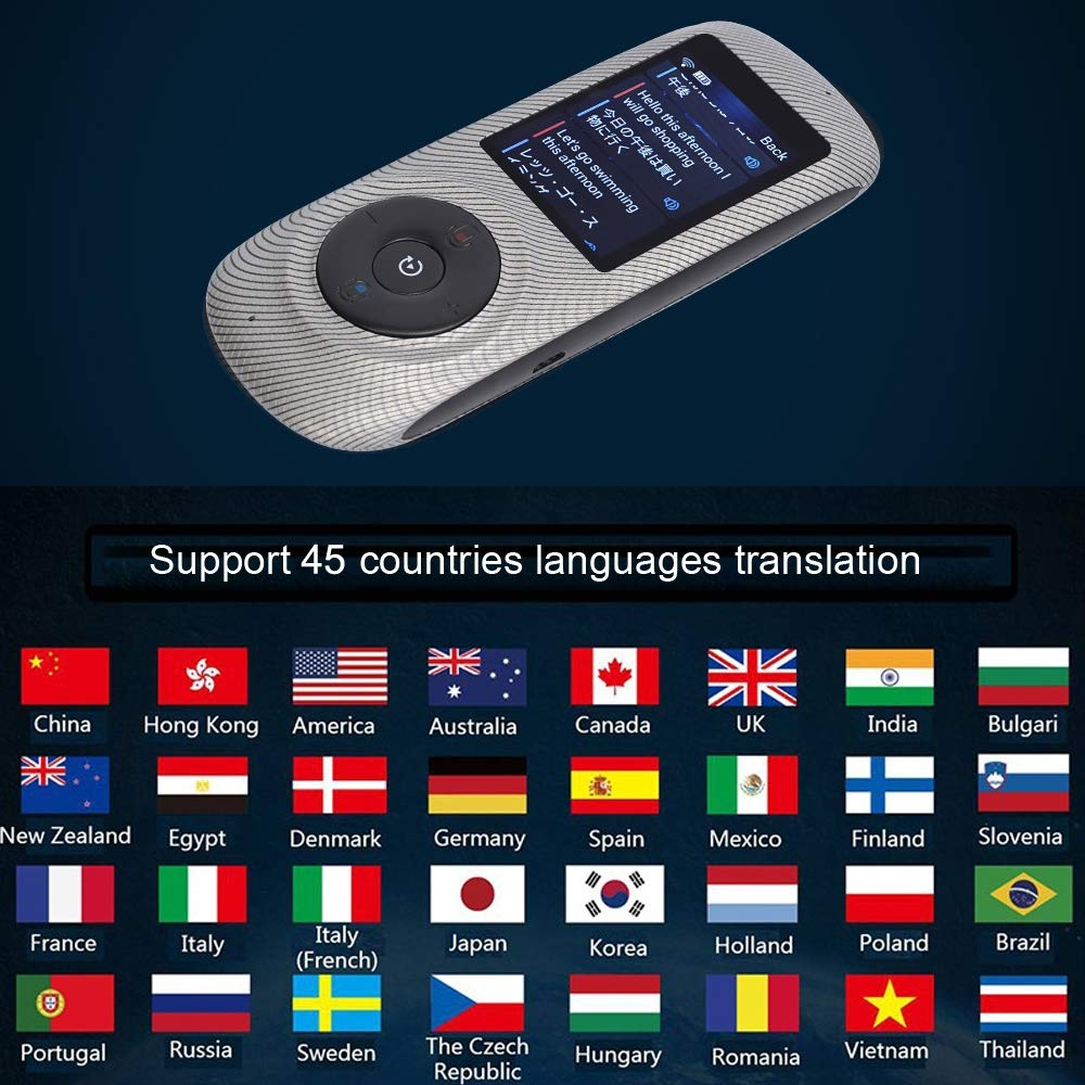 Instant Voice Translator Device Translation 45 Languages Smart 2 Way WiFi 2.4inch IPS Capacitive Touch Screen by Aspiring (Image #7)