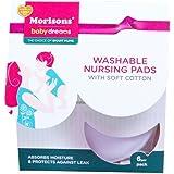 Baby Dreams Washable Nursing Pads (Set of 6, Multicolor)