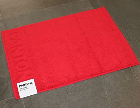 Bassetti tappeto bagno pantone by ribbon red rosso cm x