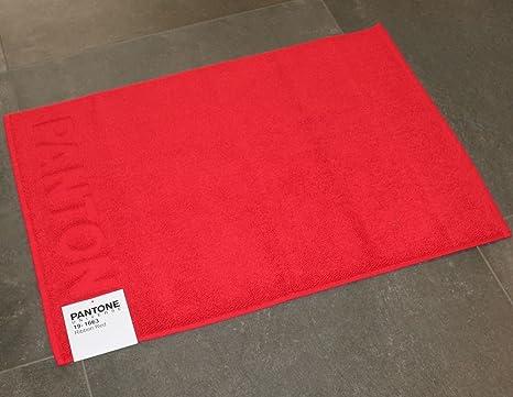 Bassetti tappeto bagno pantone by ribbon red rosso cm x