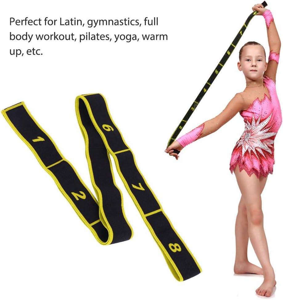 Banda El/ástica Banda de Ejercicios de Resistencia El/ástica de 8 Bucles para Entrenamiento de Gimnasia Yoga Danza con Ballet