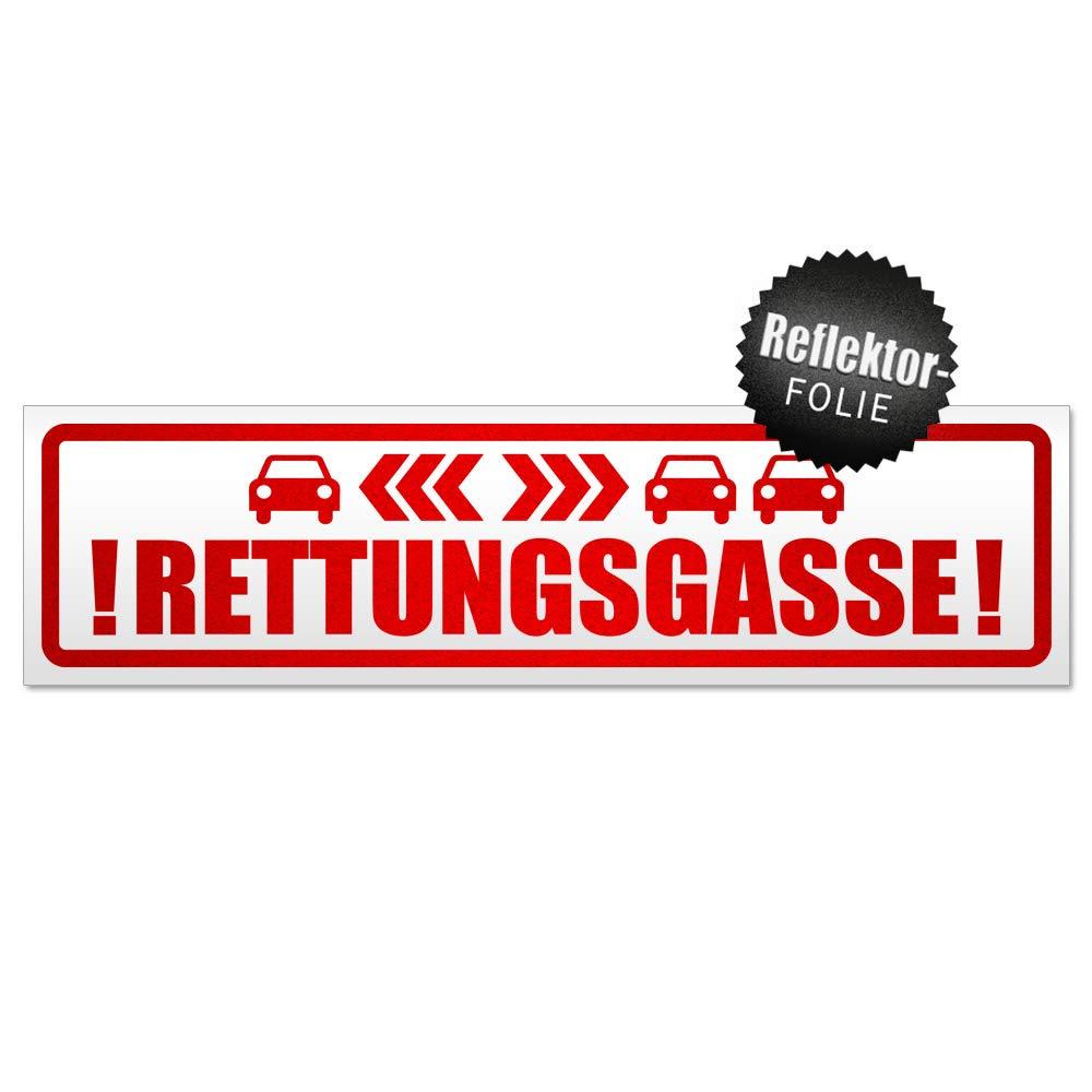Kiwistar Rettungsgasse mit Autos Magnetschild Schild magnetisch