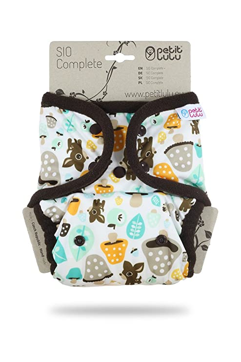 Petit Lulu Nappy Cover One Size PUL Snaps Waterproof Breathable Poppers Fleece