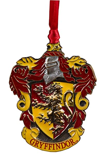 Harry Potter Christmas Ornaments Universal Studios.Wizarding World Of Harry Potter Gryffindor House Crest Metal Christmas Tree Ornament