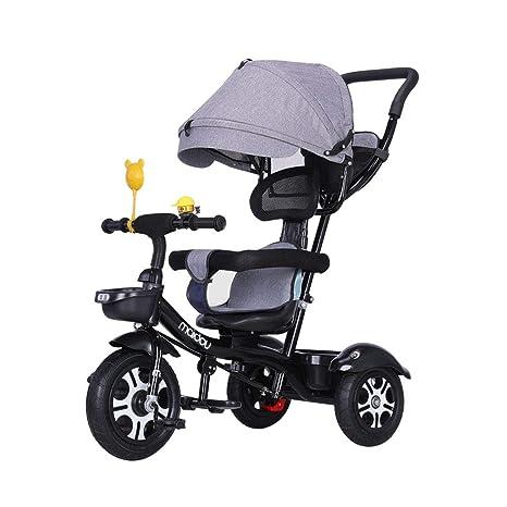 Bicicleta de bebé Plegable 3 en 1 Carro Multifuncional Triciclo para niños de 1-3