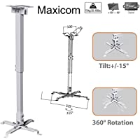 Maxicom Heavy Duty - 3 Feet Projector Ceiling Mount Stand Bracket (M449 - White - Weight Capacity : 15 Kgs)