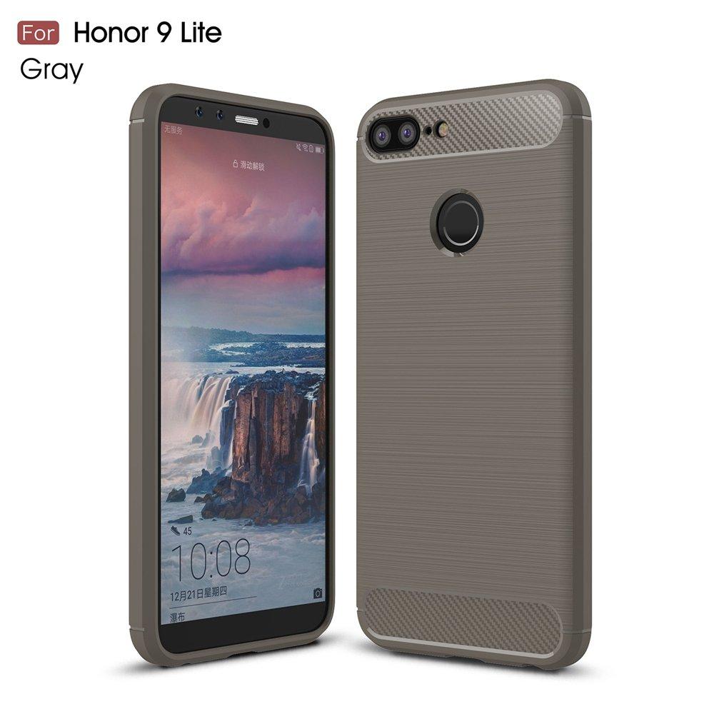 zl one Funda Huawei Honor 9 Lite Case Fibra de Carbono Holder Back ...