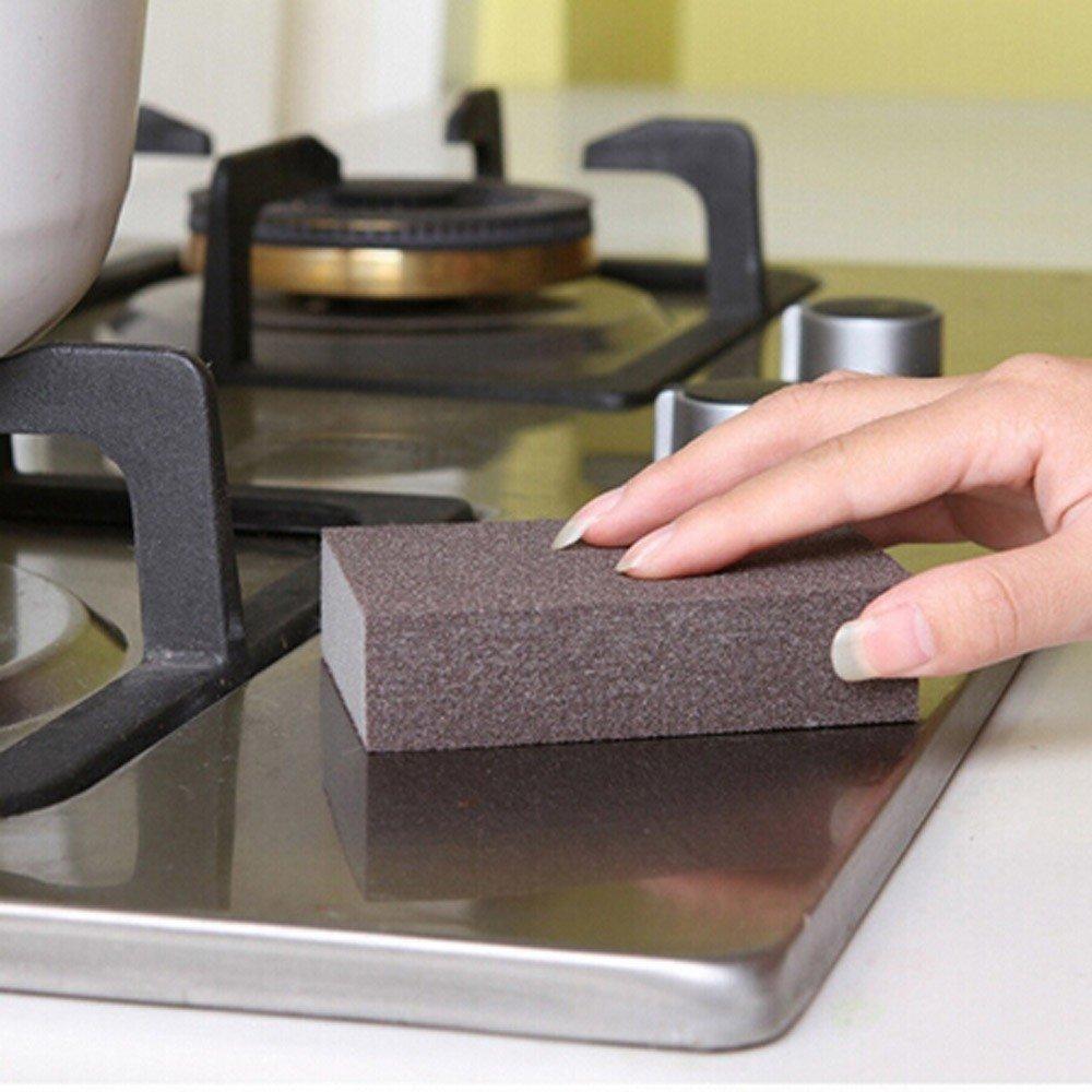 Sinks Transer Nano Magic Cleaning Eraser Sponge /& Scouring Pads with Carborundum Bathroom Grey Pots Best Eraser Sponges For Scrubbing Kitchen Pans