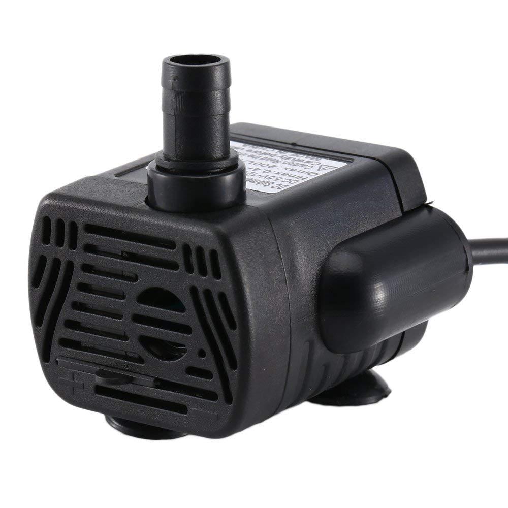 DGdolph Water Pump Power Membrane Submersible Fountain Aquarium Pump 12 V Black
