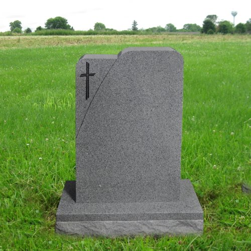 Gray Granite Upright Monument Gravemarker Headstone