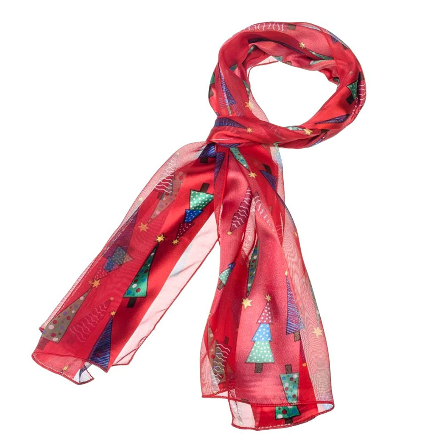 Christmas Tree Scarf Red