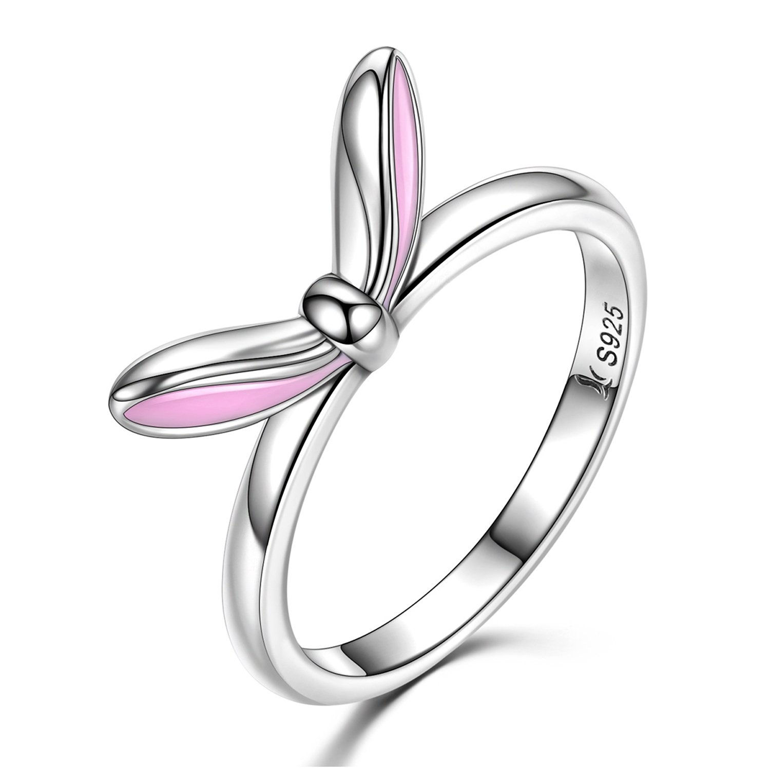 925-Sterling-Silver-Rings-Cute-Rabbit-Bunny-Ears-Rings-for-Women-and-Girls-Mothers-Day-Gifts-Size-6-7-8