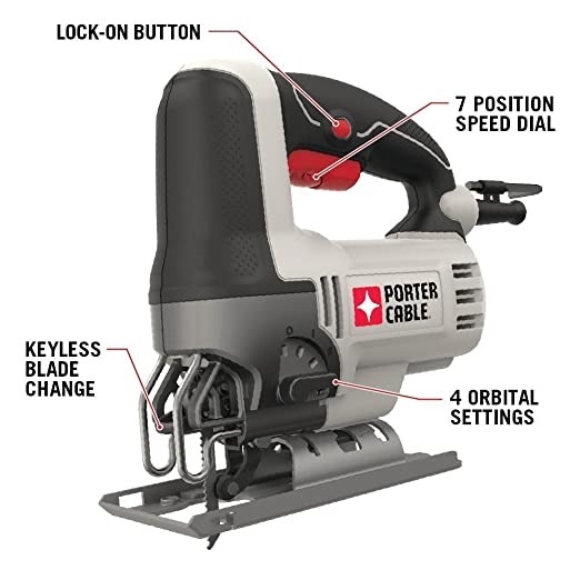 Porter cable pce345 6 amp orbital jig saw amazon keyboard keysfo Image collections