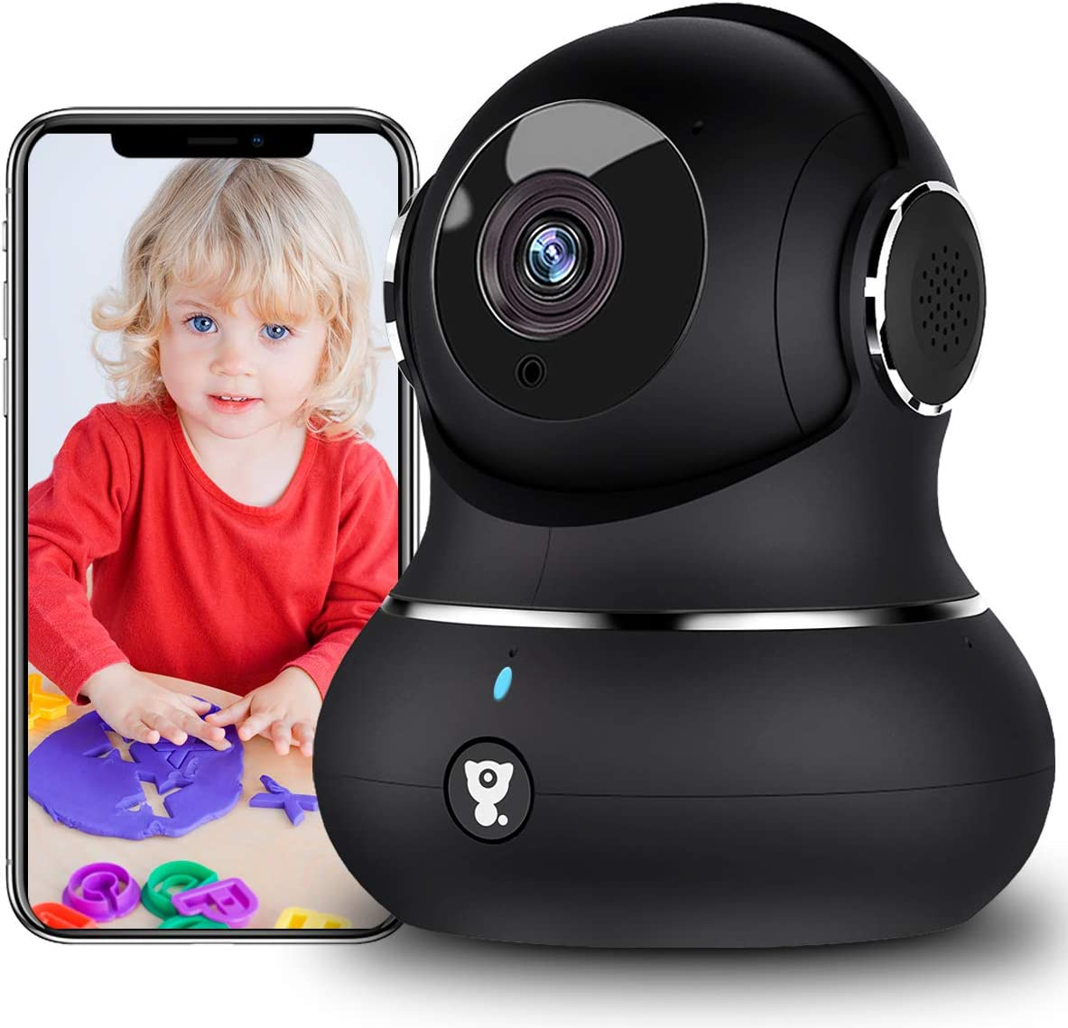 Home Security Camera Indoor, 1080P Littlelf WiFi Indoor Camera with Phone App for Baby/Pet/Elder, Dog Camera with Motion Detection,2-Way Audio,Works with Alexa, 2021 Newest Security Camera for Home