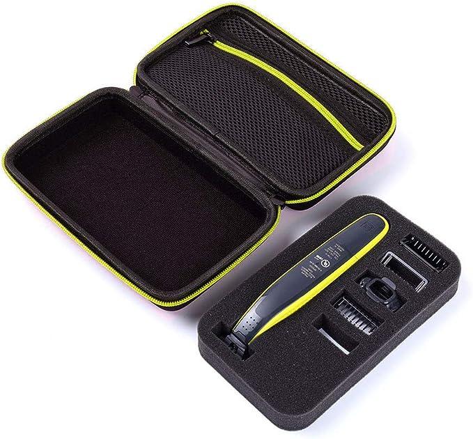 Estuche para Philips Norelco OneBlade Hybrid Trimmer Shaver QP2520 / 70/90 (Black Green Zipper): Amazon.es: Salud y cuidado personal