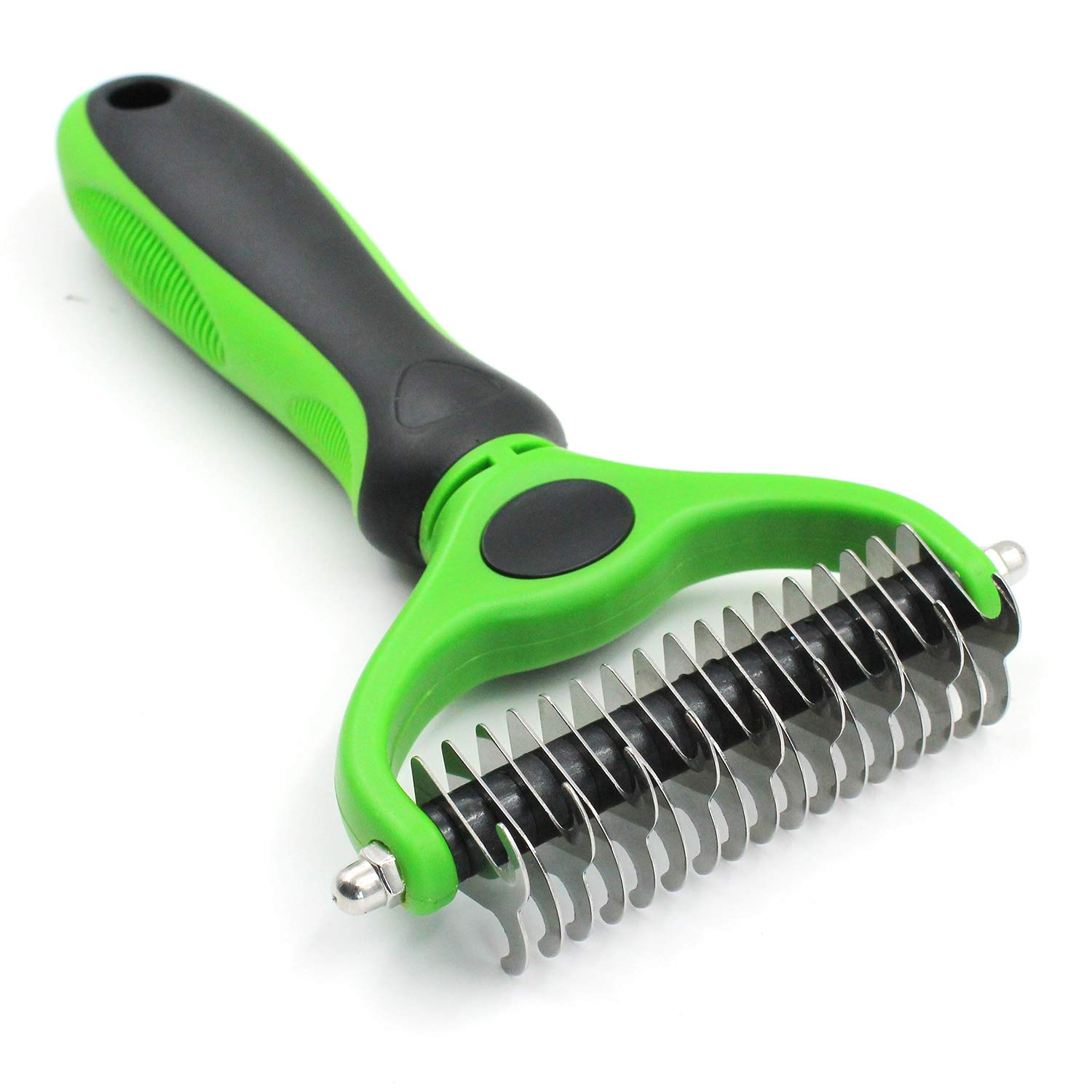 PET HOUND Dematting Tool for Dogs-2 Sided Undercoat Rake for Cats & Dogs-Safe and Gentle Grooming