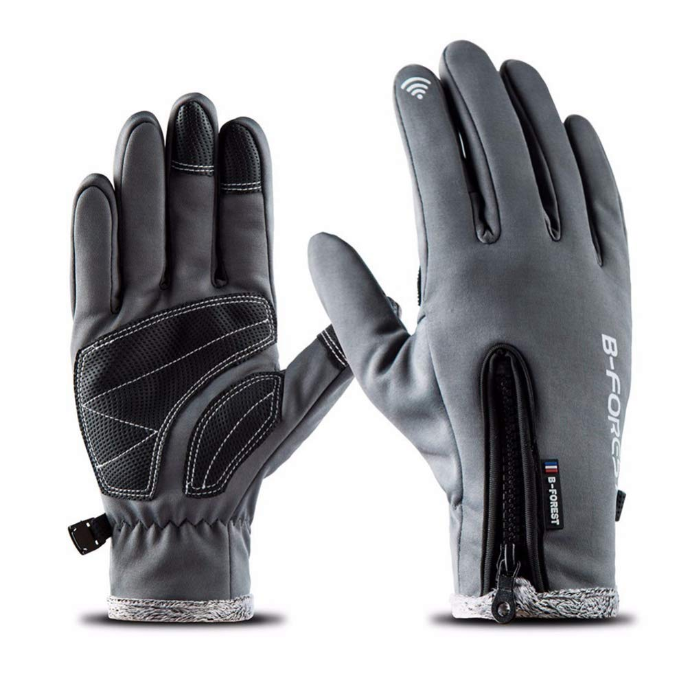 Touch Screen Ski Gloves Winter Warm Gloves Snow Fleece Women Men Windproof Skiing Snowboard Gloves YURASIKU