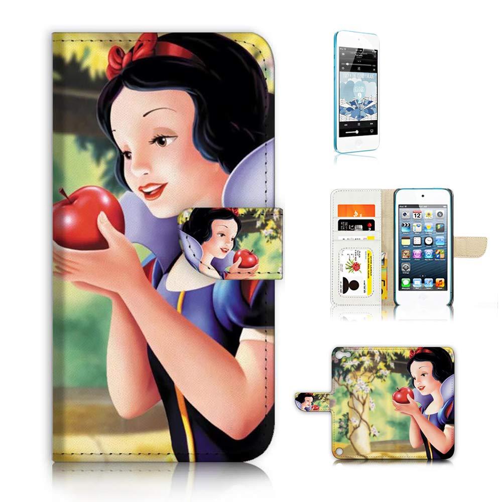 (iPod Touch 5 6 / iTouch 5 6) フリップウォレットケースカバー & スクリーンプロテクターバンドル - A21618 スノーホワイト   B07KSSZLGW